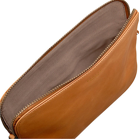 Buy Radley Malton Leather Medium Zipped Across Body Tablet Case, Tan Online at johnlewis.com