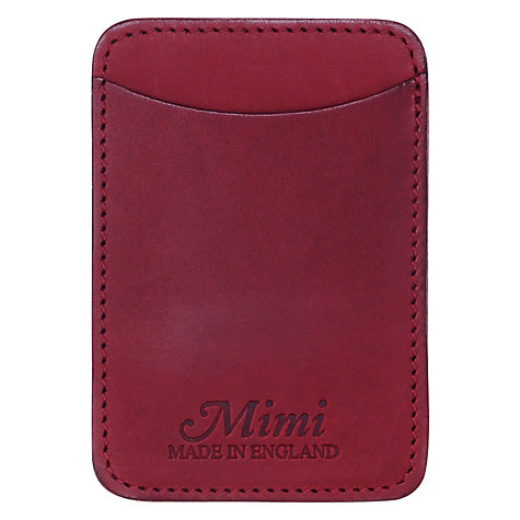 Buy Mimi Berry Made in England Travel Card Holder, Claret Online at johnlewis.com