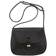 Buy Mimi Berry Peggy Medium Satchel Handbag, Black Online at johnlewis.com