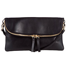 Buy COLLECTION by John Lewis Hayley Leather Clutch Bag, Black Online at johnlewis.com