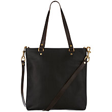 Buy Mimi Berry Spike Leather Small Zip Tote Bag, Black Online at johnlewis.com