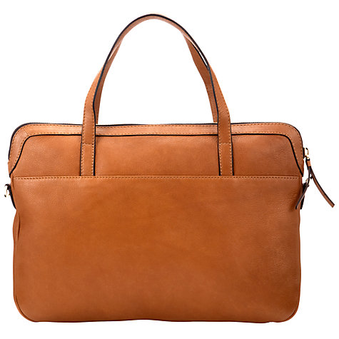 Buy COLLECTION by John Lewis Sparky Tech Leather Laptop Bag Online at johnlewis.com