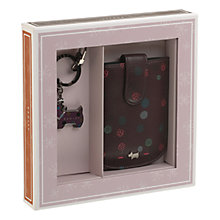 Buy Radley On The Dot Keyring & Blackberry Case Gift Set, Damson Online at johnlewis.com