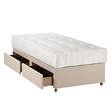 Buy John Lewis Pocket Ortho 1200 Mattress and Non-Sprung Ortho Divan Set, Light Beige, Single Online at johnlewis.com