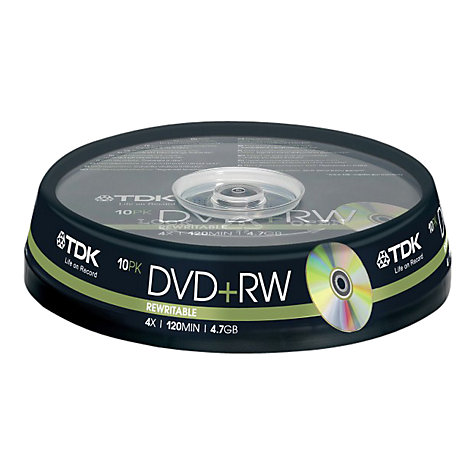 Buy TDK T19524 DVD+RW Rewritable DVDs, Pack of 10 Online at johnlewis.com