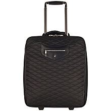 "Buy Knomo Bolsover 17"" Laptop Quilted Cabin Suitcase, Marine Blue Online at johnlewis.com"