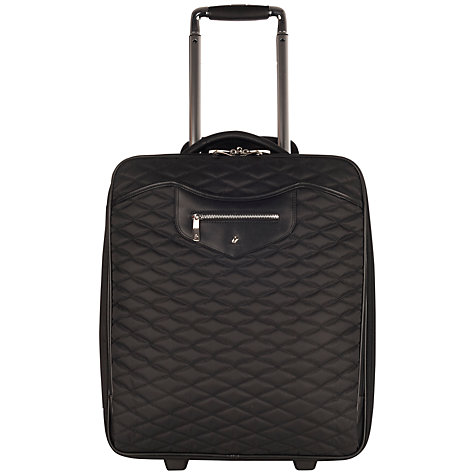 "Buy Knomo Bolsover 19"" Quilted Cabin Suitcase, Marine Blue Online at johnlewis.com"