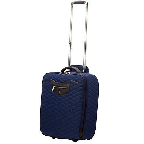 "Buy Knomo Bolsover 19"" Laptop Quilted Cabin Suitcase, Marine Blue Online at johnlewis.com"