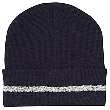 Buy School Unisex High Visibility Ski Hat, Navy Online at johnlewis.com