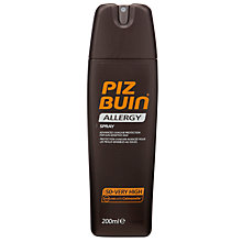 Buy Piz Buin Allergy Spray SPF 50+, 200ml Online at johnlewis.com