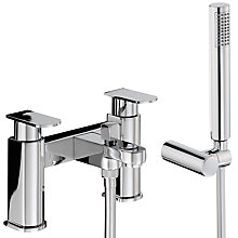Buy Abode Rapture Deck Mounted Bath/Shower Mixer with Shower Handset Online at johnlewis.com