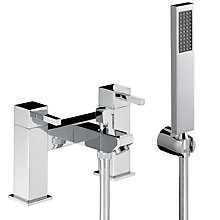 Buy Abode Zeal Deck Mounted Bath/Shower Mixer with Shower Handset Online at johnlewis.com
