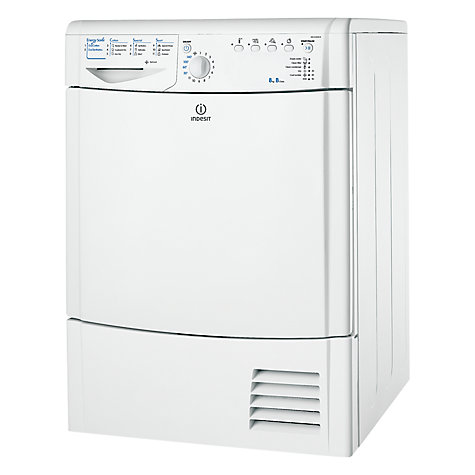 Buy Indesit IDCA8350B Condenser Tumble Dryer, 8kg Load, B Energy Rating, White Online at johnlewis.com