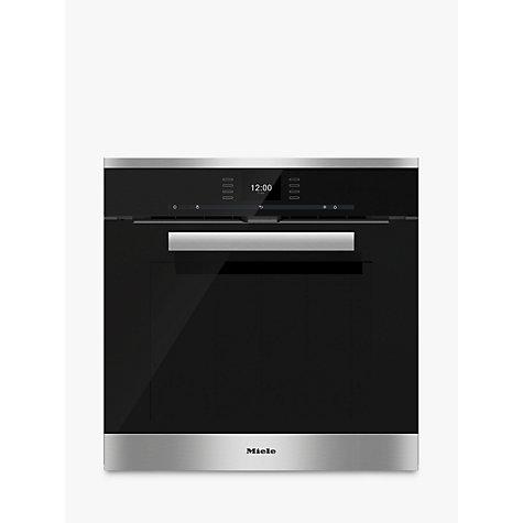 buy miele h6660bp pureline single electric oven clean. Black Bedroom Furniture Sets. Home Design Ideas