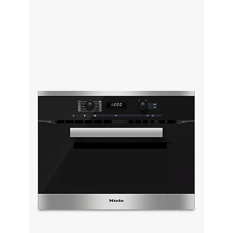 Buy Miele H6200BM PureLine Built-In Combination Microwave Online at johnlewis.com