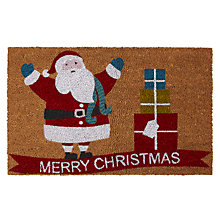 Buy John Lewis Merry Christmas Coir Doormat Online at johnlewis.com