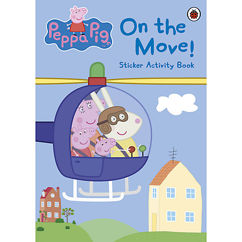 Buy Peppa Pig On The Move Sticker Activity Book Online at johnlewis.com
