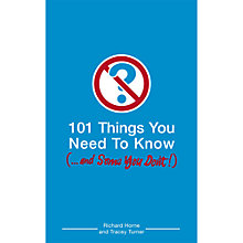 Buy 101 Things You Need To Know Book Online at johnlewis.com