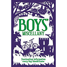 Buy Boys' Miscellany Book Online at johnlewis.com