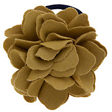 Buy John Lewis Girl Felt Flower Ponie Hairband, Navy/Mustard Online at johnlewis.com