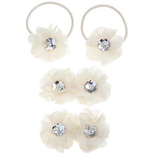 Buy John Lewis Girl Crystal Flower Hair Set, Pack of 6, Cream Online at johnlewis.com