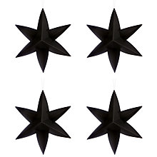 Buy Livingly Hanging Star Decorations, Set of 4 Online at johnlewis.com