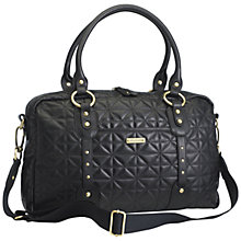 Buy Storksak Elizabeth Quilted Bag, Black Online at johnlewis.com