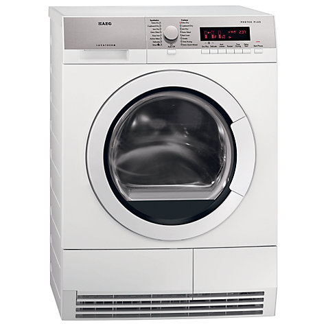Buy AEG T86280IC ProTex Condenser Tumble Dryer, 8kg Load, B Energy Rating, White Online at johnlewis.com