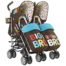 Buy Cosatto Supa Dupa Twin Pushchair, Big Bro Little Bro Online at johnlewis.com