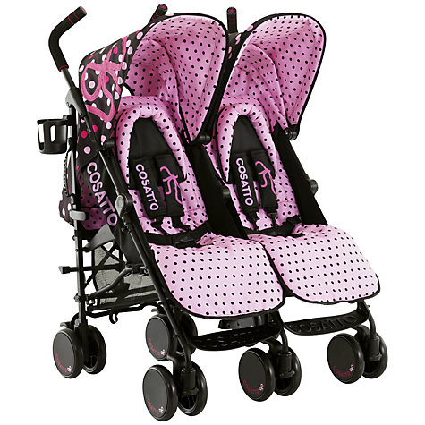 Buy Cosatto Supa Dupa Twin Pushchair, Bow How Online at johnlewis.com