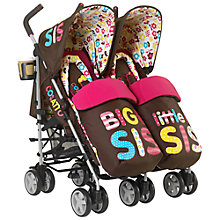 Buy Cosatto Supa Dupa Twin Pushchair, Big Sis Little Sis Online at johnlewis.com
