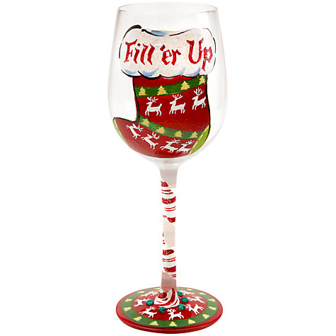 Buy Lolita Christmas Fill 'er Up Wine Glass Online at johnlewis.com
