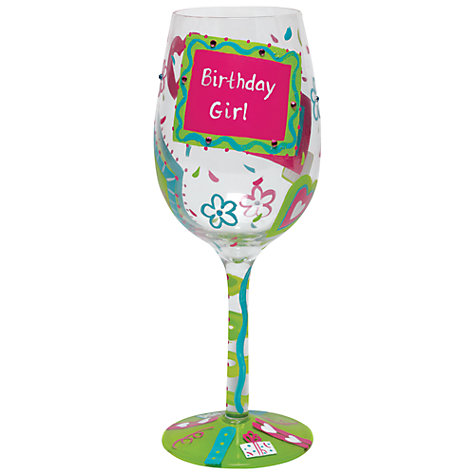 Buy Lolita Birthday Girl Wine Glass Online at johnlewis.com