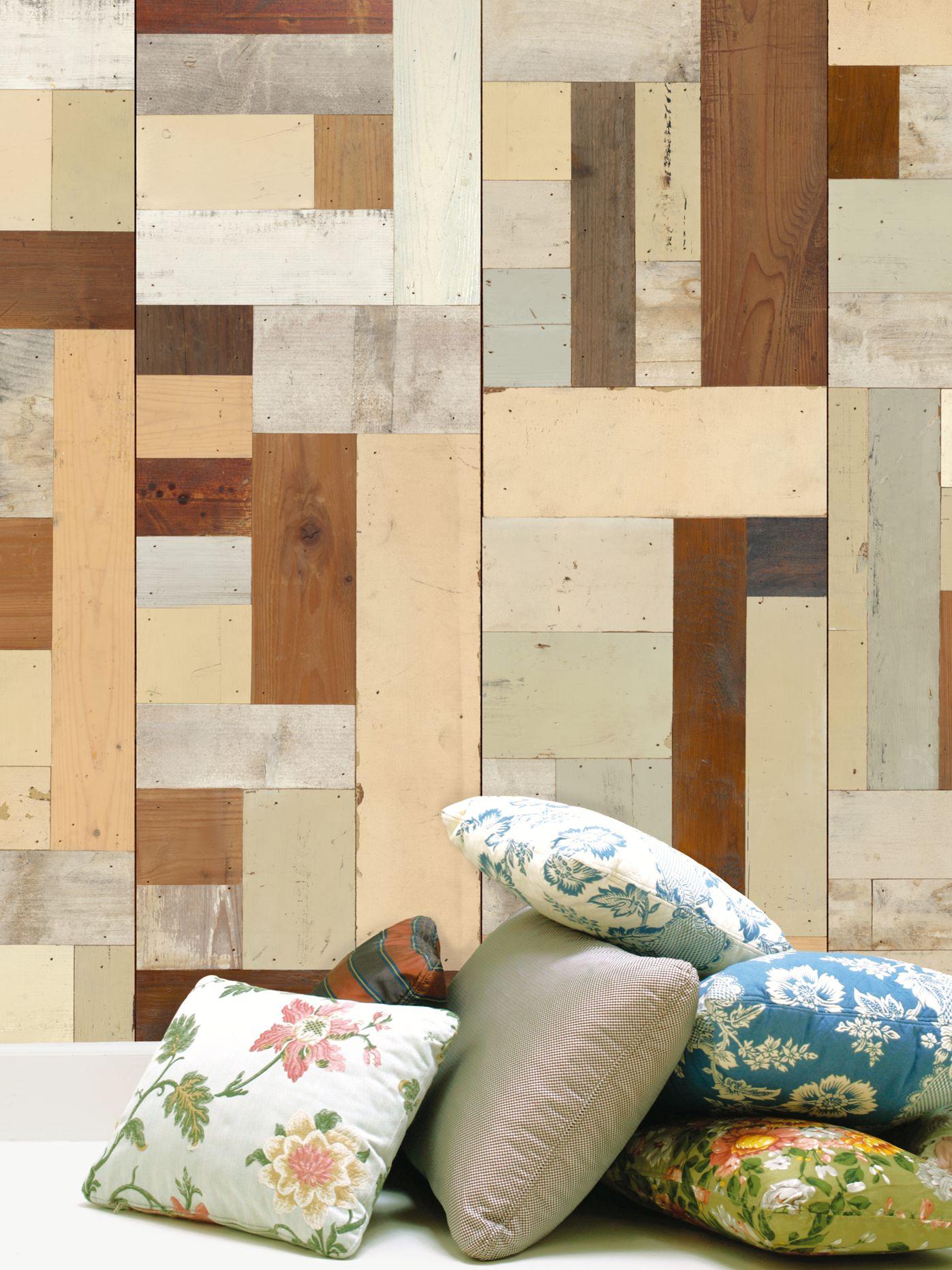 NLXL NLXL Scrap Wood Paste the Wall Wallpaper