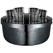 Buy John Lewis Half Hammered Bar Shot Glass Set Online at johnlewis.com