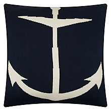 Buy John Lewis Knitted Anchor Cushion Online at johnlewis.com