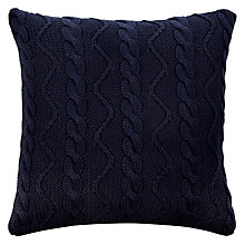 Buy John Lewis Nautical Knit Cushion, Navy Online at johnlewis.com