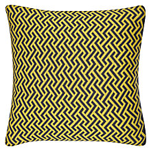 Buy John Lewis Knitted Zigzag Cushion, Citrine Online at johnlewis.com