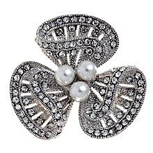 Buy John Lewis Lucky Charm Diamante Brooch, Rhodium Online at johnlewis.com