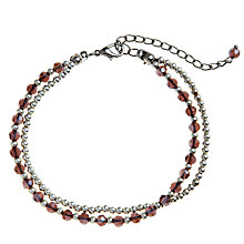Buy John Lewis Double Layer Bead And Ball Chain Bracelet, Silver Online at johnlewis.com