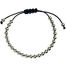 Buy John Lewis Navy Cord Friendship Bracelet, Silver Online at johnlewis.com