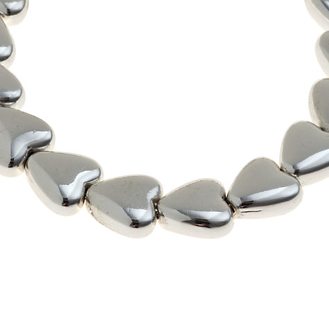 Buy John Lewis Silver Heart Stretch Bracelet Online at johnlewis.com