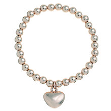 Buy John Lewis Georgie Bead Heart Bracelet Online at johnlewis.com