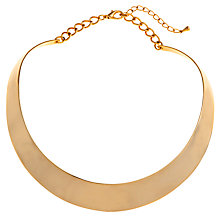 Buy John Lewis Steel Polished Torc Necklace, Gold Online at johnlewis.com