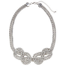 Buy John Lewis Silver Toned Mesh Knot Statement Necklace Online at johnlewis.com