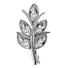 Buy John Lewis Marquise Crystal Leaf Brooch Online at johnlewis.com