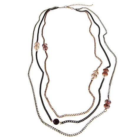 Buy John Lewis Mixed Chain Crystal Bead Necklace, Multi Online at johnlewis.com