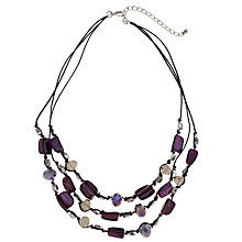 Buy John Lewis Facet and Nugget Bead Set, Purple Online at johnlewis.com