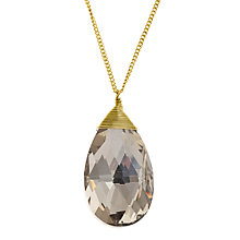 Buy John Lewis Glass Teardrop Pendant, Gold Online at johnlewis.com