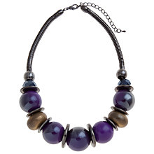 Buy John Lewis Chunky Mixed Bead Necklace, Purple Online at johnlewis.com